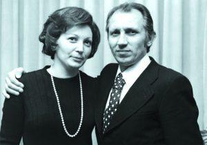 Tullio Stermieri and his wife Fiorella in the 60,s